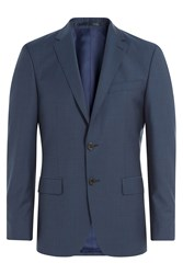 Baldessarini Virgin Wool Blazer Blue