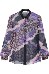 Peter Pilotto Printed Silk Shirt Purple