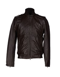 Vintage De Luxe Jackets Dark Brown