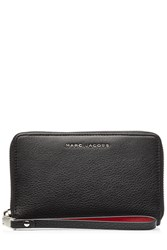 Marc Jacobs Two Tone Leather Zip Phone Wristlet Black