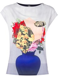 Paul Smith Ps By Vase Print T Shirt White