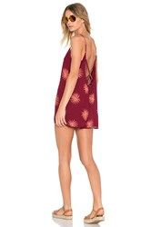Obey Raven Playsuit Burgundy