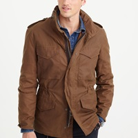 J.Crew Wallace And Barnes Waxed Cotton M 65 Jacket