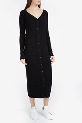 Tibi Women S Merino Wool Cardigan Dress Boutique1 Black