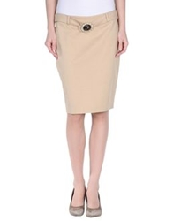 Cristinaeffe Collection Knee Length Skirts Beige