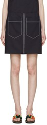 Chloe Navy Double Pocket Miniskirt