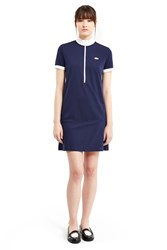 Lacoste For Opening Ceremony Cyclist Zipper Collar Polo Dress Navy White