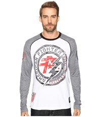 American Fighter Allen Artisan Long Sleeve Thermal White Heather Grey Men's Long Sleeve Pullover