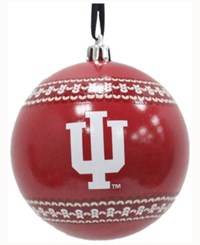Memory Company Indiana Hoosiers Ugly Sweater Ball Ornament Red
