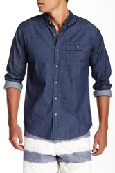 Ezekiel Rough Neck Long Sleeve Woven Shirt Blue