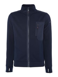 Duck And Cover Men's Brixham Zip Through Active Jacket Navy