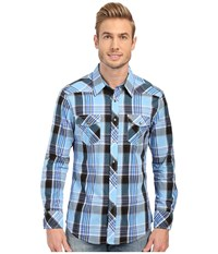 Rock And Roll Cowboy Long Sleeve Snap B2s6268 Blue Men's Clothing