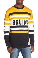 Mitchell And Ness Men's Bruins Open Net Pullover