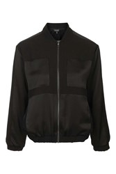 Topshop Lightweight Bomber Jacket Black