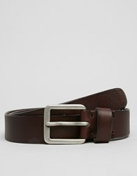Selected Brook Leather Belt Brown