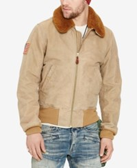 Denim And Supply Ralph Lauren Men's Bomber Jacket Tan