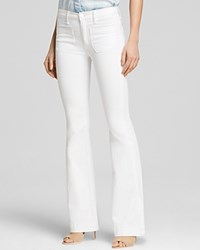 Hudson Taylor High Rise Flare Jeans In White