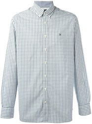 Hackett Plaid Button Down Shirt Blue