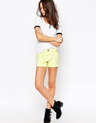 Jdy J.D.Y Classic Denim Shorts With Rolled Hem Tender Yellow