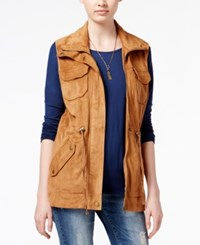 American Rag Faux Suede Cargo Vest Only At Macy's Camel