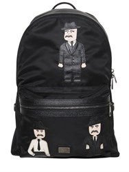 Dolce And Gabbana Sicilian Man Patches Nylon Backpack
