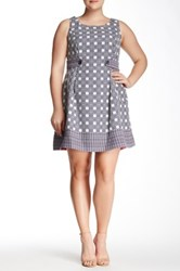 Robbie Bee Sleeveless Printed Fit N' Flare Dress Plus Size Multi