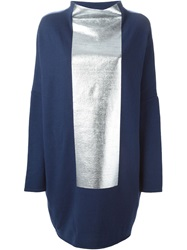 Gianluca Capannolo Metallic Panel Sweater Blue