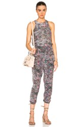 L'agence Cooper Jumpsuit In Abstract Purple