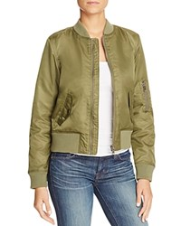 Fillmore Sateen Bomber Jacket Olive
