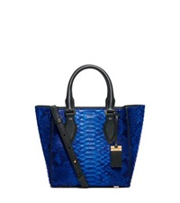 Michael Kors Gracie Small Python Tote Peacock
