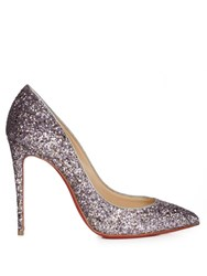Christian Louboutin Pigalle Follies 100Mm Glitter Pumps Silver Multi