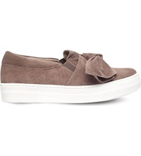 Kg By Kurt Geiger Little Suede Bow Skate Shoes Taupe