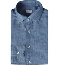 Slowear Slim Fit Chambray Shirt Chambrey