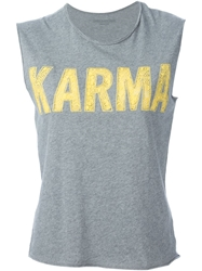 Zadig And Voltaire 'Karma' Print Tank Top
