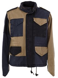 Kolor Patchwork 'Beacon' Jacket Blue