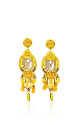 Ranjana Khan Yellow Tassel Earrings