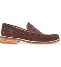 Oliver Sweeney Leiston Suede Penny Loafers Brown