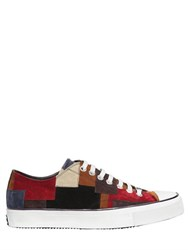 Roberto Cavalli Patchwork Suede Leather Sneakers