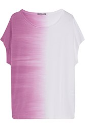 Vince Ombre Pima Cotton And Modal Blend T Shirt White
