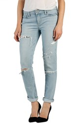 Women's Paige Denim 'Jimmy Jimmy' Ripped And Repaired Boyfriend Jeans Mayan Patch