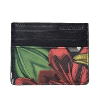 Pierre Hardy Canvas Lilly Cube Cardholder Black