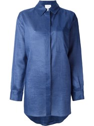 Dkny Oversized Shirt Blue