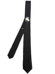 Christian Dior Dior Homme Small Flower Print Tie Black