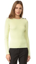 Nina Ricci Ribbed Long Sleeve Sweater Light Yellow
