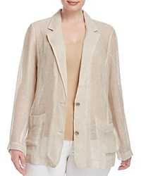 Eileen Fisher Plus Semi Sheer Blazer Natural