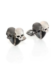 Stephen Webster Sterling Silver Gemini Cuff Links