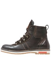 S.Oliver Laceup Boots Dark Brown