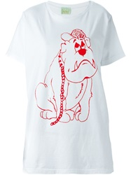 Aries 'Ar Fall Bulldog' T Shirt White