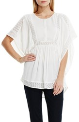 Women's Two By Vince Camuto Lace Inset Poncho Style Top