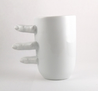 Porcelain Cup With Fingers By Kinagorska On Etsy